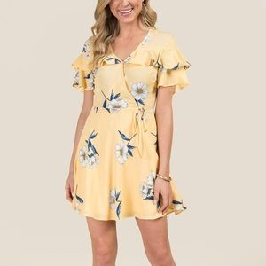Scout Floral Ruffle Top Wrap Dress